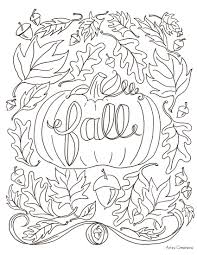 stylist design autumn coloring pages for adults 12 fall coloring