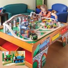 thomas the train wooden table wood train table w talking thomas percy for kids train table