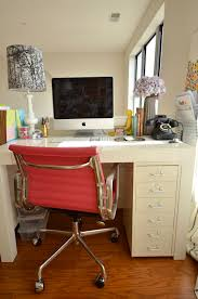 Parsons Mini Desk Pottery Barn by West Elm Parsons Desk U0026 Ikea Helmer 6 Drawer Unit Via Onmyagenda
