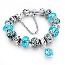 glass bead bracelet charms images Chicvie 925 silver crystal charm bracelets for women with purple jpg