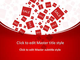 free sale powerpoint template to sell your red merchandise to