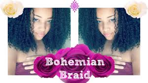 how to style crochet braids with freetress bohemia hair crochet braids tutorial freetress bohemian braid hair youtube