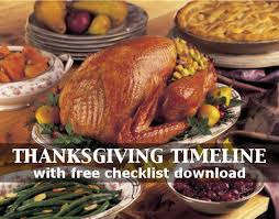 plan the thanksgiving with the thanksgiving timeline with