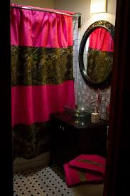 Pink Gingham Shower Curtain Rod Pocket Shower Curtains Particular Classique Textiles Curtain
