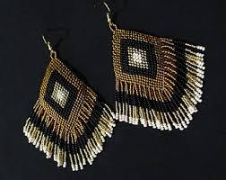 Native American Beaded Earrings Huichol Native American Beaded Earrings Huichol Earrings Tribal