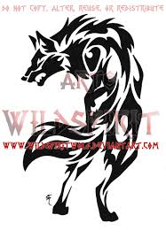 snarling tribal wolf tattoo by wildspiritwolf on deviantart
