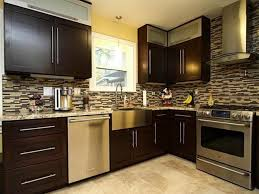 Kitchen Design Ideas Dark Cabinets Kitchen Designs White Upper Cabinets Walnut Lower Small Kitchen
