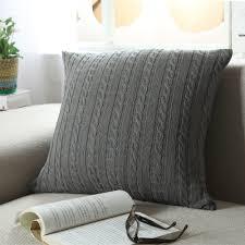 knit home decor 1xeuropean vintage cushion cover 100 cotton home sofa knitted