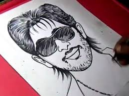how to draw hero allu arjun drawing for kids youtube