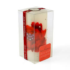 home decor floral decorative luxury candle red poppy flower from home decor floral