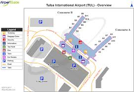 New Orleans Terminal Map by Tulsa Tulsa International Tul Airport Terminal Map Overview