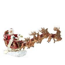 possible dreams santa s sleigh 21in figurine 4022801