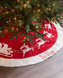personalized tree skirt dashing through the snow christmas tree skirt balsam hill