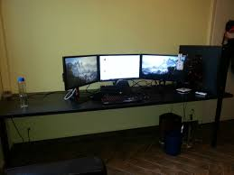 amazing best desk for multi monitor setup greenvirals style