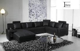 canapé cuir noir canapé panoramique cuir monna noir expo canapé cuir noir 5 6