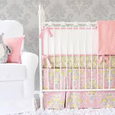 Pink And Gray Nursery Bedding Sets by Baby Girl Bedding Sets Ruffles Flowers U0026 Frills U2013 Caden Lane