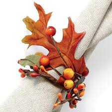 how to make harvest napkin rings for fall entertaining berry