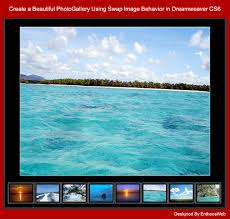 tutorial website dreamweaver cs5 create a beautiful photogallery using swap image behavior in