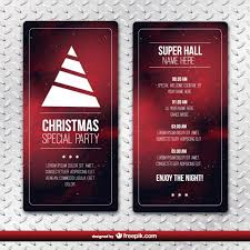 christmas party flyer template vector free download
