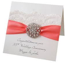 35 year wedding anniversary opulence wedding anniversary card by made with designs ltd