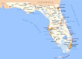 Hollywood Usa Map by Detailed Map Of Florida State Florida State Detailed Map