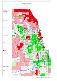 City Of Chicago Map by Chicago 1990 Census Maps