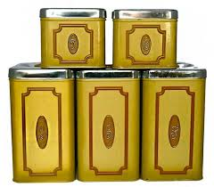 ebay kitchen canisters gorgeous vintage dovetail wooden canister set four kitchen