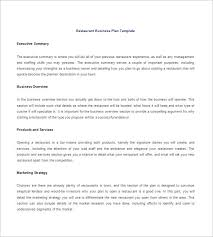 restaurant business plan template u2013 14 free word excel pdf