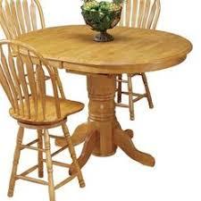 Oak Bar Table Unfinished Wood Pub Table