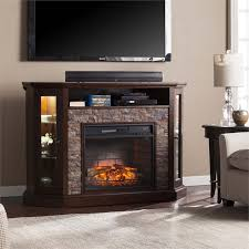 Infrared Electric Fireplaces by Southern Enterprises Redden Corner Electric Fireplace Tv Stand