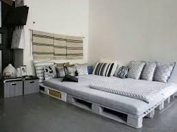 Grey Flooring Bedroom Rustic Pallet Bed Ideas With Warm Interior Nuance U2013 Adorable Look