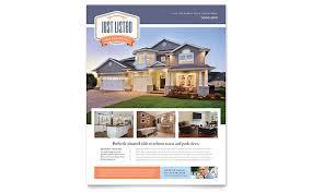 realtor brochure template house for sale real estate flyer