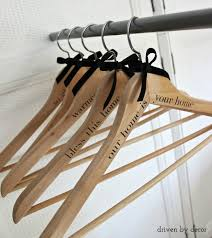 diy personalized wood hangers the gift driven by decor