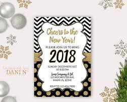happy new year invitation new years party invite 2018 invitation cheers