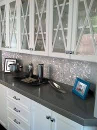 Glass Backsplash Kitchen Iridescent Glass Tile By Lunada Bay Stainless Hood With Taupe