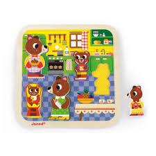 cuisine enfant 18 mois puzzle encastrement chunky cuisine janod pour enfant de 18 mois à 3