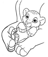 baby simba lion king coloring animal coloring pages