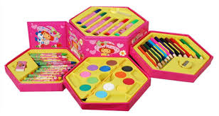 fantasy india colouring kit for kids 46 piece colouring kit
