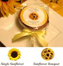 sunflower wedding favors sunflower cookie pop favors favors sunflowers