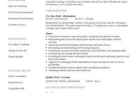 Resume Hotel Job by Hotel Manager Resume Examples Hotel Manager Cv Template Job