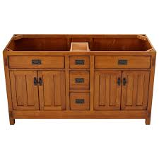 double vessel sink vanity rustic oak wood vanities bathroom oak