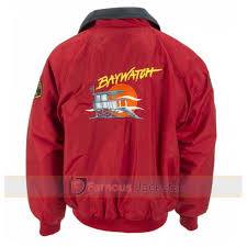 Lifeguard Halloween Costumes Red Bomber Lifeguard Jacket Halloween Costume