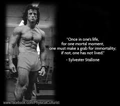 Stallone Meme - sylvester stallone motivational quote physical culturist