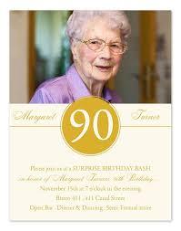 template elegant elegant 90th birthday party invitations with