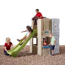 step2 2 story playhouse with slide toys