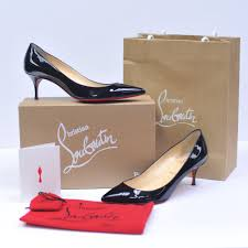 christian louboutin corbeau flats on sale at local conginment store