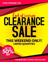 customizable design templates for clearance sales postermywall