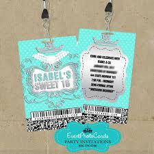 Quinceanera Invitation Cards Tiffany U0026 Co Vip Pass Invitations Breakfast At Tiffany