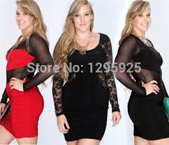 2015 new womens ladies plus size long sleeve lace top dress uk