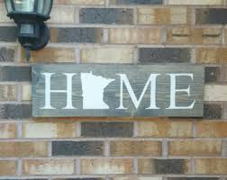 Reclaimed Wood Home Decor Minnesota Sign Etsy